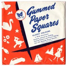 Gummed paper squares,  essential  if making lanterns for Christmas.