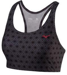 Biustonosz termoaktywny do biegania Mizuno DryLite Heritage Bra Grey Black S | MALL.PL