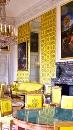 Yellow Room in Grand Trianon at Versailles. Photo taken by Gloria Bolton