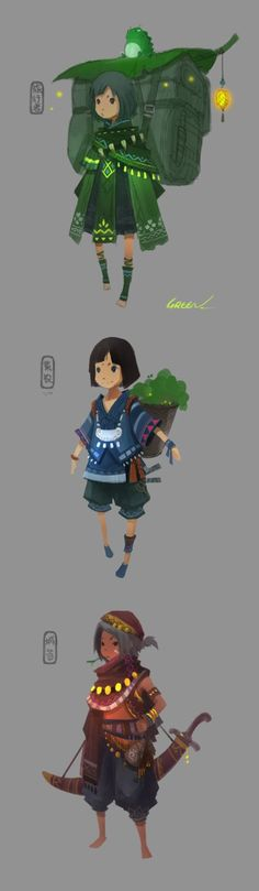 by C罐头 | game character concept | Pinterest