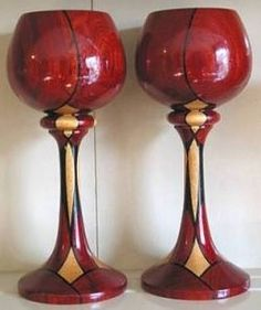 Full instructions for building staved wooden goblets. Here I'm going to show how I build staved goblets similar to this pair. These are a lot...