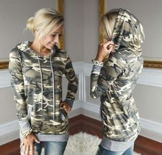 """HOT PRICES FROM ALI - Buy """" Enduring Newly design Womens Camouflage Printing Pocket Hoodie Sweatshirt Hooded Pullover Tops Blouse"""" from category """"Women's Clothing & Accessories"""" for only USD. Hoodie Sweatshirts, Pullover Hoodie, Hoodies, Camouflage Hoodie, Women's Camo, Camo Hoodie, Camouflage Tops, Hooded Sweater, Winter Clothes"""