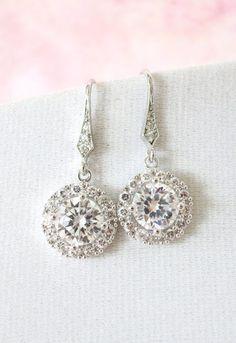 Heather Luxe Cubic Zirconia Round Drop Earrings #jewelry #earrings