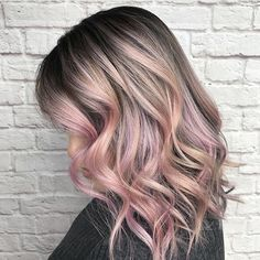 "4,456 Likes, 22 Comments - behindthechair.com (@behindthechair_com) on Instagram: ""Gorgeous color! @loveisinthehair_byjanet we are loving the dark roots and lighter pink colors…"""