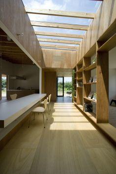 Hallway, House In Midori / Studio Synapse