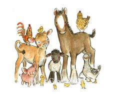"""Art--""""copains de la ferme""""--Art Archiv enfants..."""