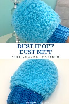 The Dust It Off Dust Mitt free crochet pattern is easy to make and works fantastic. Make a bunch for gifts or market stock.