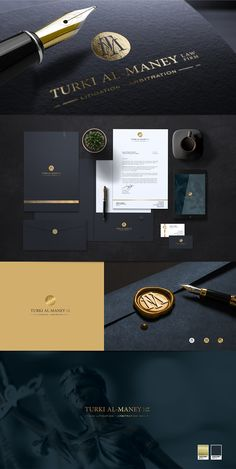 Logo creation for Saudi Arabia lawyer. Turki Al-Maney Law Firm, … Corporate Identity Design, Brand Identity Design, Business Branding, Business Card Design, Branding Design, Logo Branding, Graphisches Design, Logo Design, Logo Minimalista