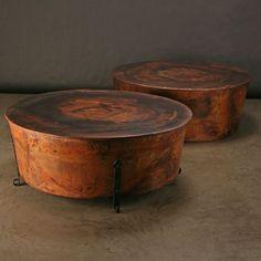 Jatex Copper 42 x 18 Round Drum Coffee Table 22315 Coffee