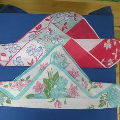 Two Vintage Cotton Handkerchiefs by LoopyLiz on Etsy