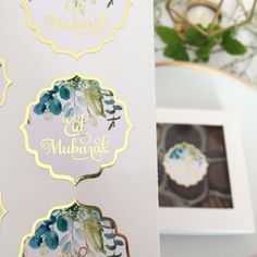 Shine Bright Stickers offers quality foiled stickers for Ramadan, Eid, Hajj, and Umrah with both timeless & modern designs. Eid Mubarak Stickers, Eid Stickers, Eid Favours, Favors, Ramadan Crafts, Eid Gift, Logo Design, Place Card Holders, Bright