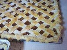 Cookie sheets apple pie, to feed large groups!!!