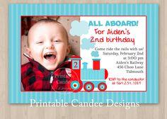 Mod Choo Choo Train Birthday Invitation  Custom by printablecandee, $10.00