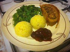 De Plantaardige Keuken: Seitan roast met cranberry-bloedsinaasappelsaus