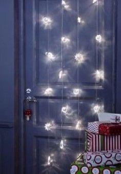 Ikea Lichterkette Weihnachtsdeko LED Licht Leuchte Kristall Lichtervorhang Deko