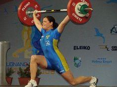 Annika Berntsson, Sweden. 82kg split snatch