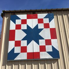 While traveling on business today I came across not 1, but 2 barn quilts in Texas and Oklahoma!!! #bluesheepboutique #barnquilt #barnquilts #quilter #fabricshop #quilt #oklahoma #redwhiteandblue #stopandsmelltheroses