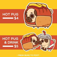 """pugliepug: """"Puglie Hot Pug Stand - come by before he eats it all! """""""