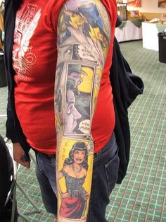 Sweet Comic Book Tattoo Sleeve