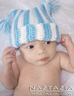 Crochet Baby Hat With Tassles
