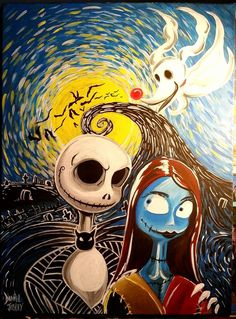 Nightmare Before Christmas on canvas