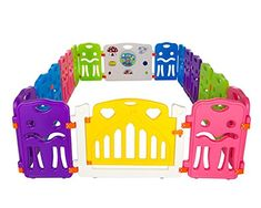 Cannons Plastic Baby Den Playpen with Games Station (Small Panels, 160 x 160 cm): Amazon.co.uk: Baby
