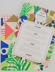 colorful pattern menu