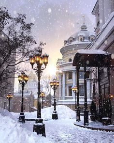 23 Ideas For Winter Landscape City Snow Winter Szenen, Winter Magic, Winter Ideas, Moscow Winter, Winter Months, Beautiful World, Beautiful Images, Winter Drawings, Days Till Christmas