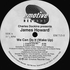 Charles Dockins Presents James Howard - We Can Do It (Wake Up) (Vinyl) at Discogs