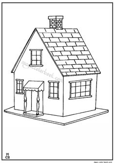 Houses and Homes color page. Family coloring pages, People and Jobs coloring pages. Coloring pages for kids. Thousands of free printable coloring pages for kids! Family Coloring Pages, House Colouring Pages, Coloring Pages For Boys, Animal Coloring Pages, Coloring Pages To Print, Coloring Book Pages, Printable Coloring Pages, Coloring Sheets, Kids Coloring
