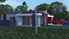 3 Bedroom House Plan – My Building Plans South Africa Home Design Floor Plans, Plan Design, My Building, Building Plans, Floor Layout, Double Garage, Bedroom House Plans, Open Plan Living, Master Suite