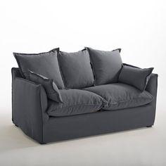Canapé fixe en lin froissé Odna