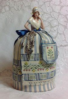 Grethel ~ A Dutch Maiden Pincushion Doll From Giulia Punti Antichi - Cross Stitch Charts - Embroidery - Casa Cenina