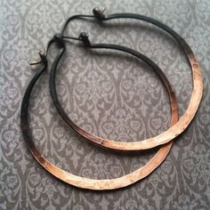 Hey, I found this really awesome Etsy listing at https://www.etsy.com/listing/180871493/ombre-hoop-earrings-large-hoops-copper