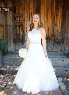 Ideas For Davids Bridal Wedding Dresses Lace Illusion Neckline Modest Wedding Dresses, Bridal Dresses, Bridesmaid Dresses, Lace Dresses, Wedding Dressses, Wedding Gowns, Davids Bridal Gowns, Summer Bridal Showers, Vintage Bridal