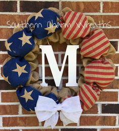 SALE American Flag Patriotic Burlap Wreath by southcharmwreaths Southern Charm, 4th Of July Wreath, Burlap Wreath, American Flag, Wreaths, Seasons, Unique Jewelry, Handmade Gifts, Etsy