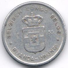 Belgian Congo + Ruandi Urundi 50 Centimes 1955 op eBid België