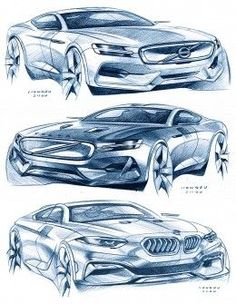 Car Design Sketches by Hongru Zhou