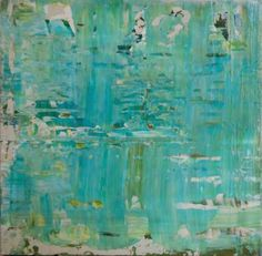 "SOLD - PRINTS AVAILABLE - Saatchi Art Artist Lisa Carney; Painting, ""Misty Teal"" #art"