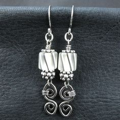 wirework earrings, love the wired danglie