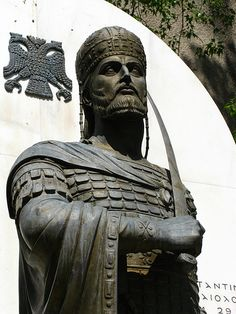 """Constantine XI """"Paleologos"""", the last Roman Emperor. In 1453, as Constantinople, abandoned by most of Europe, was falling to Ottoman hordes, he uttered his last words: """"The city is fallen but I am still alive?"""" and joined his men in the desperate fight. Centuries later, in 1834, Ahmed Pasha is said to have presented Tsar Nicholas with a jewel-encrusted sword he claimed was the one that had been pried from Constantine's dead hand"""