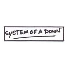 System of a Down Patch: Logo on long (on white)