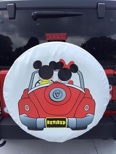 Mickey & minnie tire cover jeep jeep wrangler accessories, d Disney Car Accessories, Car Accessories For Guys, Disney Cars, Hot Topic, Jeep Tire Cover, Hello Kitty, Jeep Wrangler Accessories, Cars Birthday Parties, Lightning Mcqueen