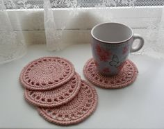 U pick colors Set of 4 Crochet Coasters 4.3 or by CrochetMansion