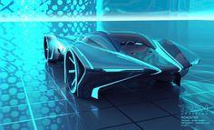 futuristic car, tron, V. Ling