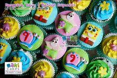 Image detail for -Cake-a-licious: Sponge Bob Cupcakes Cupcake Cake Designs, Cupcake Cakes, Sponge Bob Cupcakes, Fondant Toppers, Spongebob Squarepants, Creative Cakes, No Bake Desserts, Cake Art, Cake Decorating