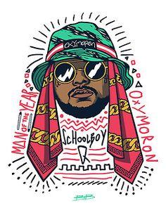 hat Illustration art Cool hip hop rap dope fresh q sunglasses gold Gangsta rapper chain artistic Vector BOOM dopeness schoolboy q tde artists on tumblr Man Of the Year bokkaboom schoolboy Oxymoron bokka boccaccio