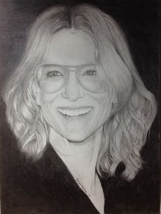 Cate Blanchett portrait drawing