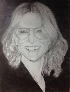 Cate Blanchett portrait drawing