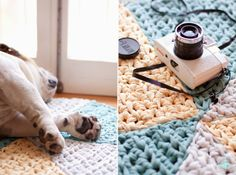 "Patrón de alfombra de Ganchillo XXL triangular ""Hipster"". Diana F+"